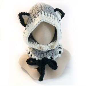 Kerry On Fashions Accessories - Wolf ears winter hat crocheted knitted gray  OS e44d618f274